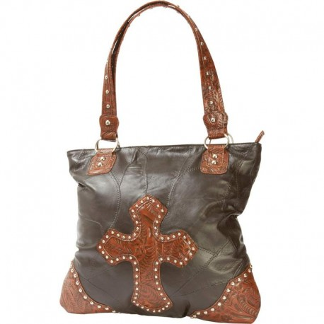 Casual Outfitters™ Italian Stone™ Design Genuine Leather Cross Purs