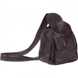 Embassy™ Italian Stone™ Design Genuine Leather Backpack Purse