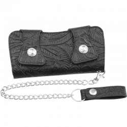 Casual Outfitters™ Solid Genuine Leather Chain Wallet