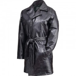 Giovanni Navarre® Ladies' Italian Stone™ Design Genuine Leather Jacket