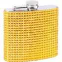 Maxam® 6oz Stainless Steel Flask with Gold Diamond Pattern Wrap