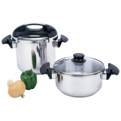 4pc T304 Stainless Steel Pressure Cooker Set